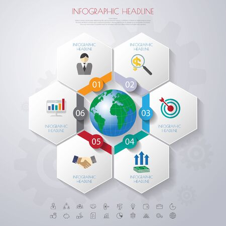 timeline: timeline infographics with icons set. Illustration
