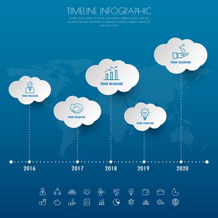 timeline: timeline infographics with icons set. vector. illustration.