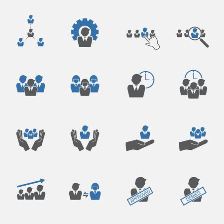 human resource: human resource icons set. vector .illustration