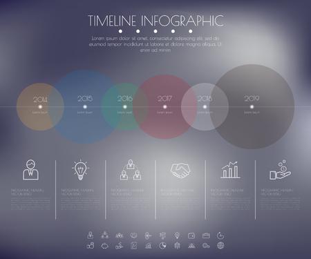 Timeline Circles Infographic. Flat Vector design template. Illustration