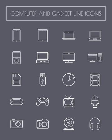 futurist: Flat Line Furniture Icons . vector . illustration. Illustration