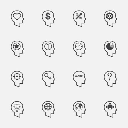 sumbol: human head sign and sumbol. icons set.vector.