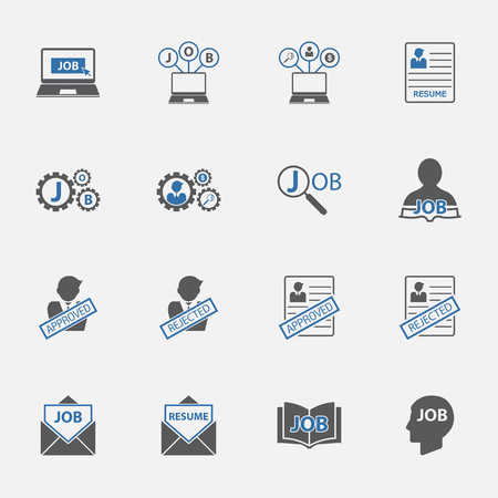 two tone: two tone jobs icons set.vectorillustration.