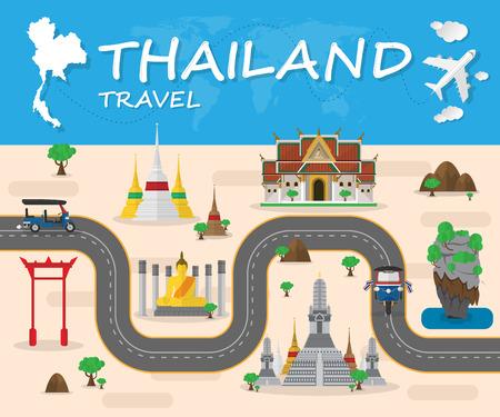 Thailand Landmark Global Travel And Journey Infographic brochure. Vector Design Template.illustration.