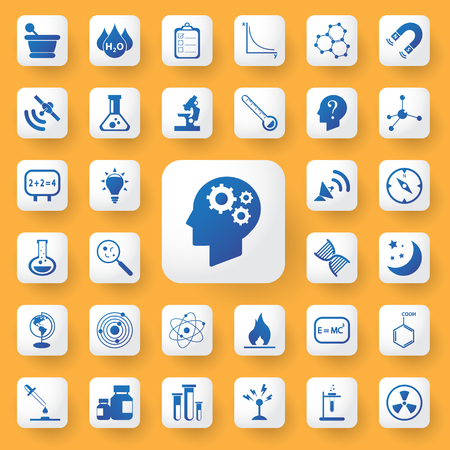 neutrons: App icon science and education Icons set. vector illustration.icybmoney