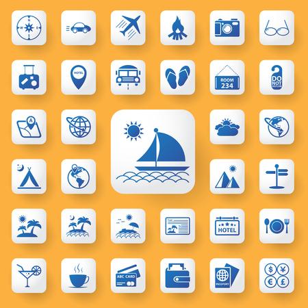 plate camera: App icon travel sign Icons set. vector illustration. Illustration