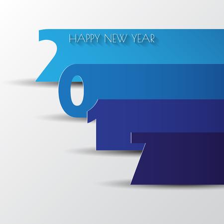 calendario octubre: Happy new 2017 year. Greetings card. Colorful design. Vector illustration Vectores