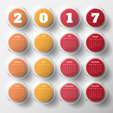 ed: 2017 Modern calendar template