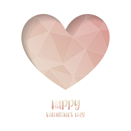 Heart Paper Sticker With Shadow Valentines day. vector illustration Postcard. vector illustration