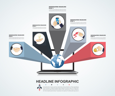 demographics: 3d Infographic Template. Data Visualization. Can be used for workflow layout, number of options, steps, diagram, graph, presentation, timeline chart and web design. Vector illustration. Illustration