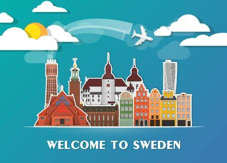 Sweden Map Stock Vector Illustration And Royalty Free Sweden - Sweden map template