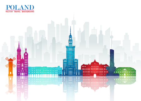 Poland Landmark Global Travel And Journey paper background. Vector Design Template.used for your advertisement, book, banner, template, travel business or presentation. Illustration