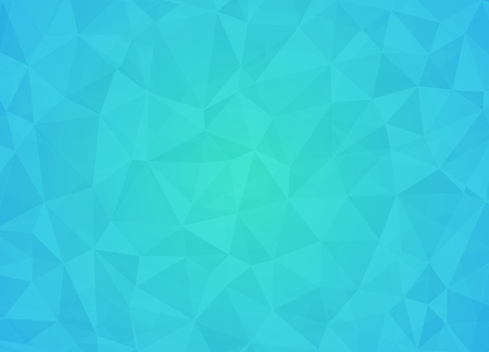 Abstract low poly background of triangles in light blue, black colors