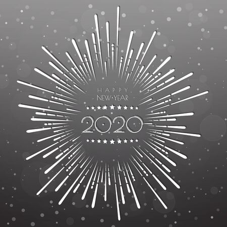 Happy new year 2020 . Greetings card. abstract background. Vector illustration.