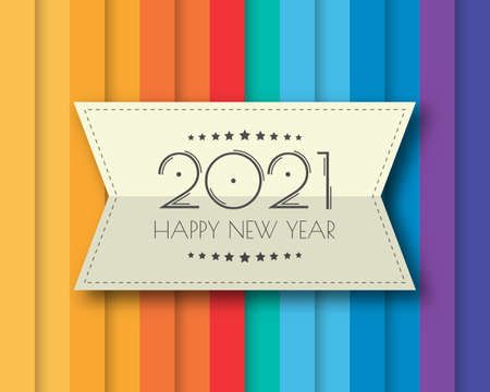 Happy new year 2021. Greetings card. abstract background. Vector illustration.