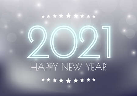 Happy new year 2021. 2021 Greetings card. abstract background. 2021 background banner. Vector illustration. Ilustração