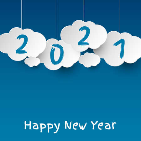 Happy new year 2021. 2021 Greetings card. abstract background.2021 background banner. Vector illustration. Ilustração