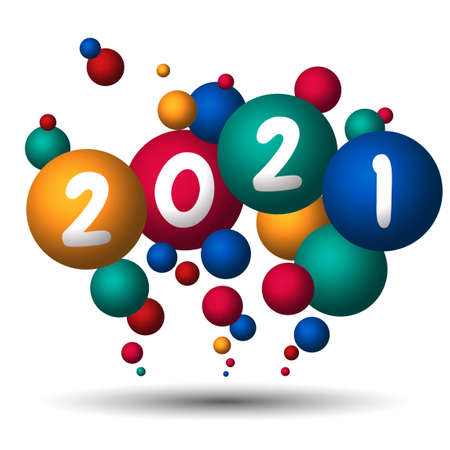 Happy new year 2021. 2021 Greetings card. abstract background.2021 background banner. Vector illustration.