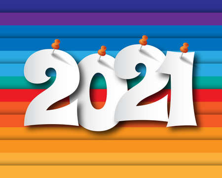 Happy new year 2021. abstract background 2021 background banner Vector illustration. Stock Illustratie