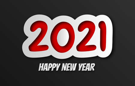 Happy new year 2021. abstract background 2021 background banner. Vector illustration. Stock Illustratie