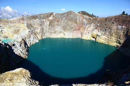 ende: Kelimutu Lake - Ende, Flores Stock Photo