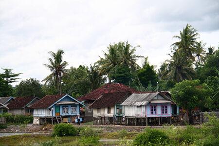 lombok: Fisherman houses at South Lombok