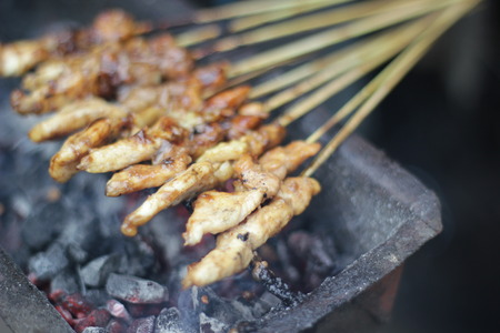 indonesian food: Sate  Indonesian Food Stock Photo
