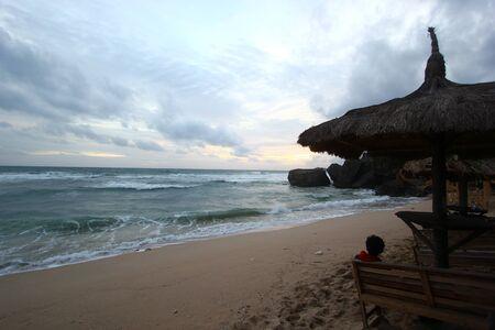 yogyakarta: Sunset at Indrayanti beach - Yogyakarta