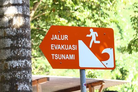 evacuation: Tsunami Evacuation sign
