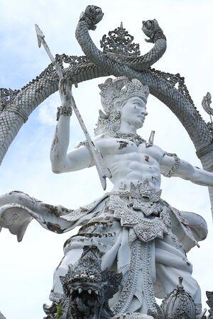 ubud: White statue in Ubud, Bali Stock Photo