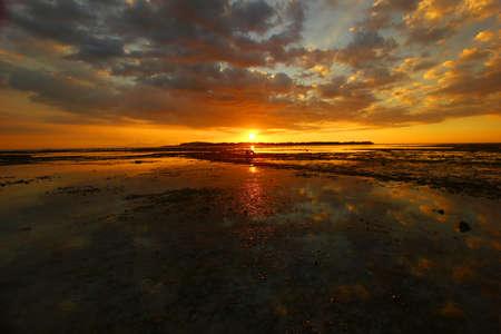 lombok: Sunset at Gili Air - Lombok Stock Photo
