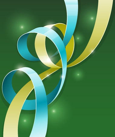 abstract background with color ribbons illustration.