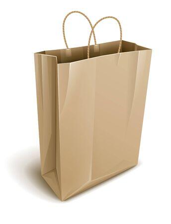 empty paper shopping illustration isolated on white background