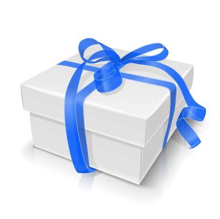 bundle: gift box with bow illustration isolated on white background
