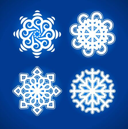 snowflake on blue background illustration