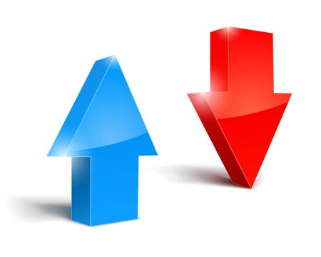 move arrow icon: conjunto de flechas arriba y abajo, ilustraci�n, icono aislado sobre fondo blanco. Vectores
