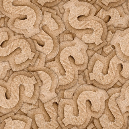 cardboard dollar sign seamless texture abstract background