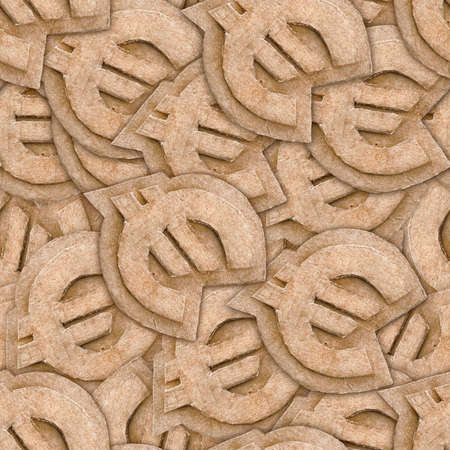 cardboard euro sign seamless texture abstract background