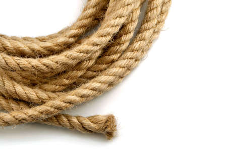 skein of rope isolated on white background Archivio Fotografico