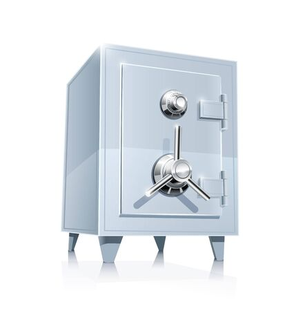 close metallic safe Stock Vector - 13139742