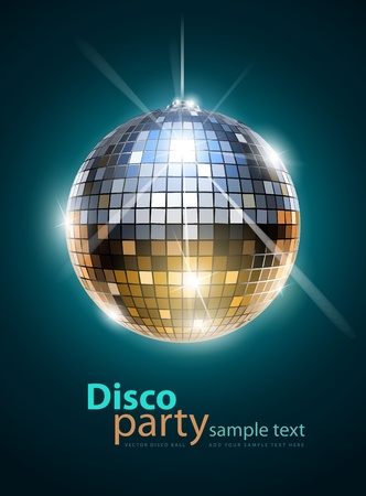 reflection in mirror: mirror disco ball  Illustration