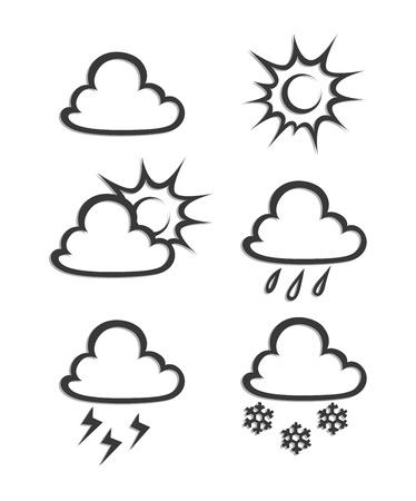 cloudburst: weather icon illustration isolated on white background Illustration