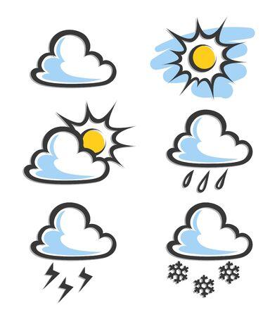 precipitation: weather icon illustration isolated on white background Illustration