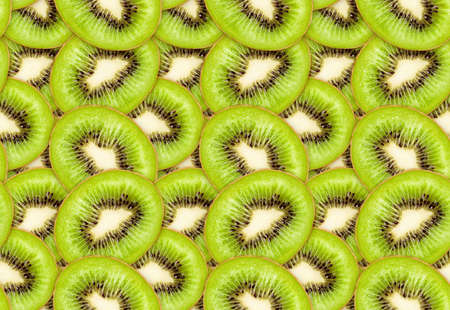 ripe green kiwi seamless texture Stock Photo