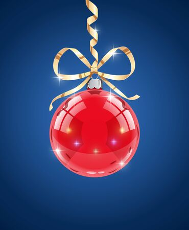 Glass ball. Decoration for christmas firtree. Eps10 vector illustration Illustration
