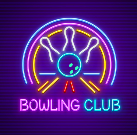 Bowling club sign for entertaining.