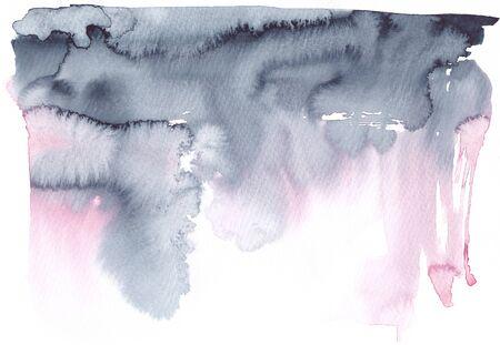 Soft pink navy blue watercolor texture Grey blush background Banco de Imagens