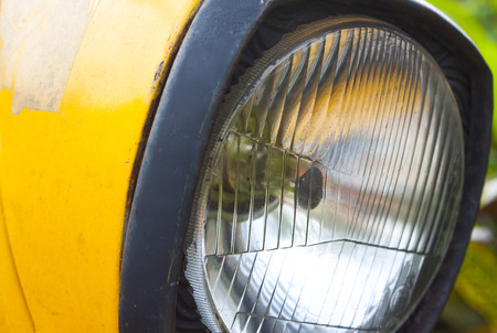 headlamp: old headlamp background Stock Photo
