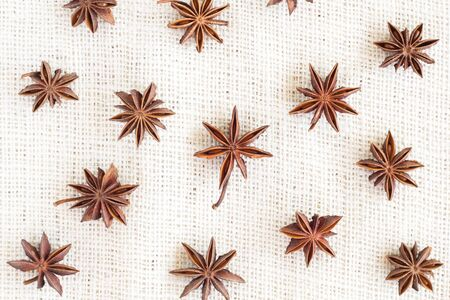 anice: Star anise pattern background Stock Photo
