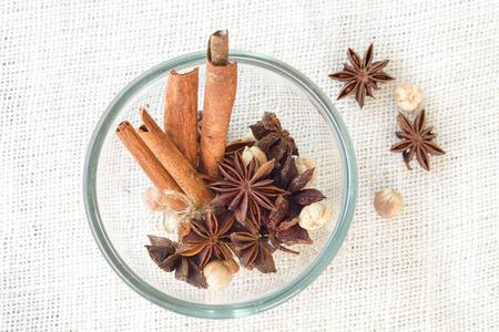 cardamon: Star anise cinnamon sticks cardamon seeds
